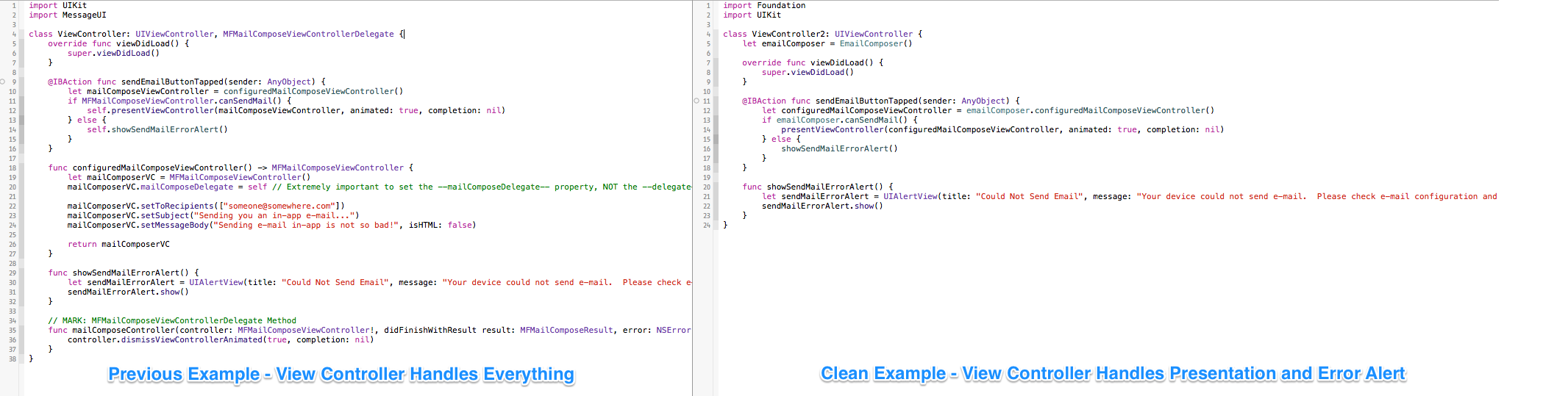 Pick A Delegate Any Delegate On Clean View Controllers In