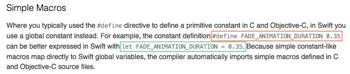 Macro Alternatives in Swift