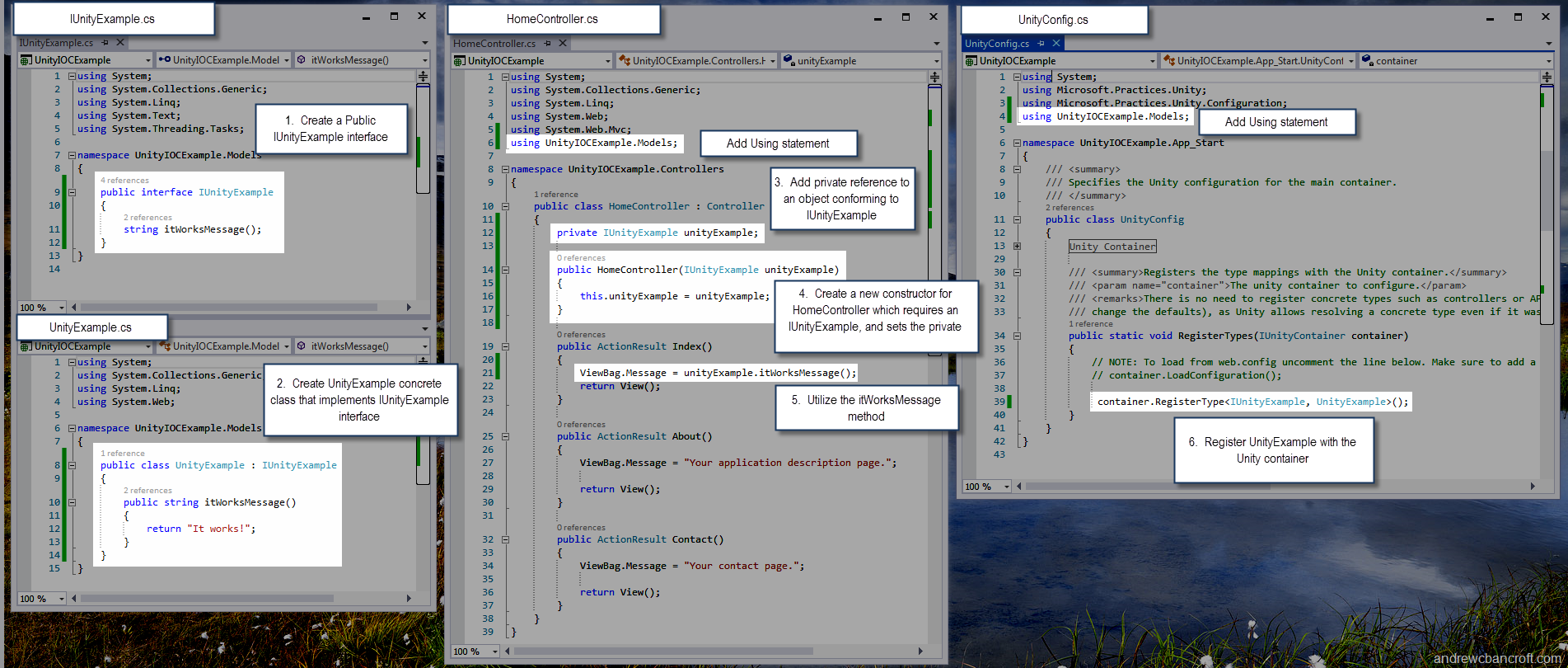 Up and Running with Unity IOC Container for ASP Net MVC