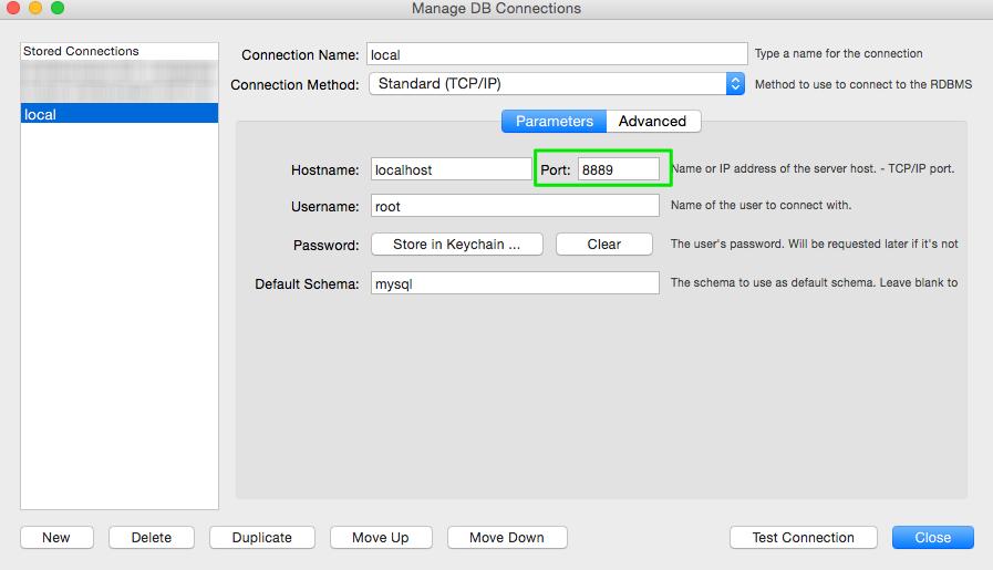 Settings based on MAMP Preferences