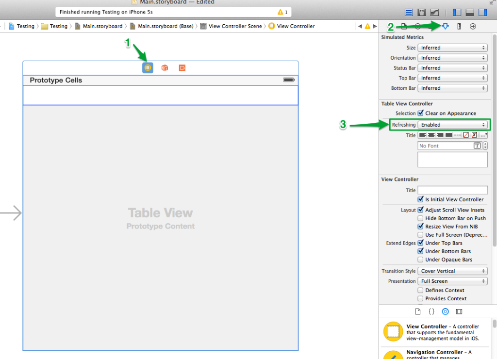 Table View Controller - Enable Refreshing