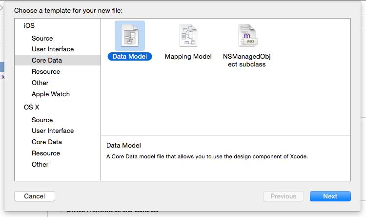 03 - New File - Core Data - Data Model