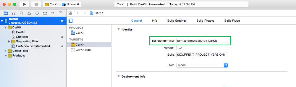 13 - CarKit Bundle Identifier