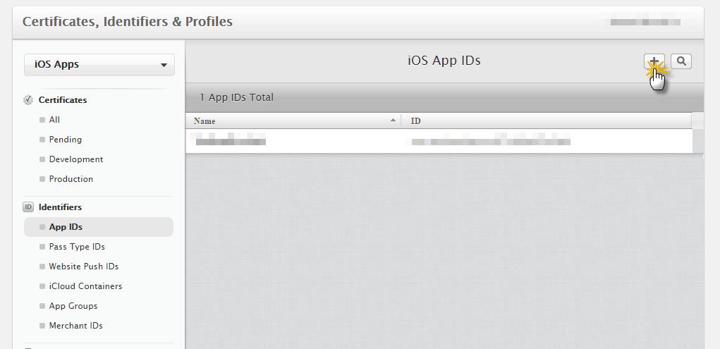 Add app id