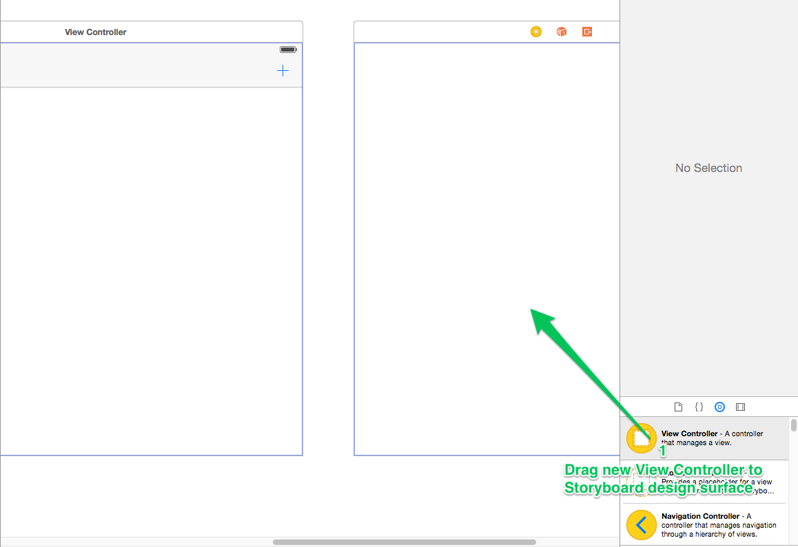 Adding Buttons to the Navigation Bar with Storyboards