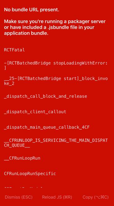 No bundle URL present