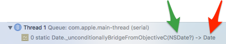Unconditionally bridge from Objective C NSDate? to Date